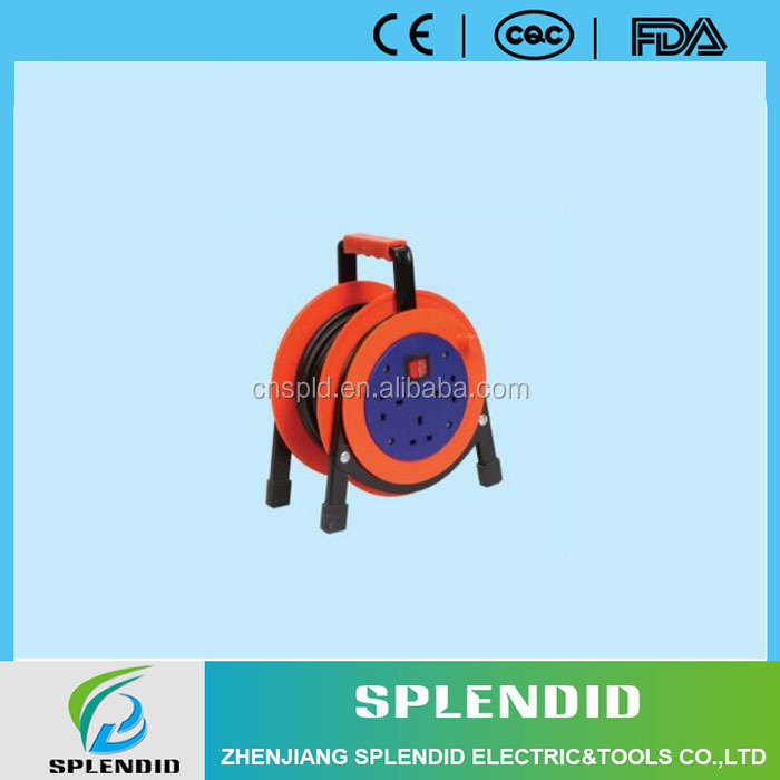 Manufacturer wire wrap electric extension cable reel with socket outlet switch