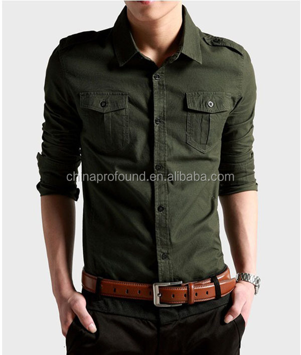 fashion men shirt slim fit soft cotton fabric shirt latest shirt designs for men 2015