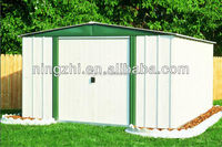 Prefab Metal Garden Shed with side hung door