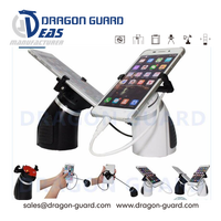 Dragon Guard anti-theft display stand holder with alert sensor for cellphone exhibit, anti-theft security display stand