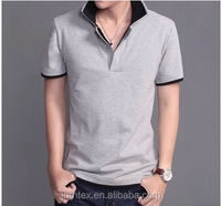 top quality blank Cotton double collar shirt for men