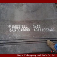 Wholesale supplier!!! Hot rolled cheap price Mn13 high alloy steel plate/steel sheet