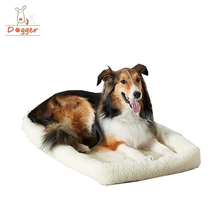 Fleece Padded Pet Bolster Bed Cushion Dog Crate Mat Pads