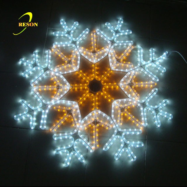 Yellow+ White Party snowflake LED Flashing Light