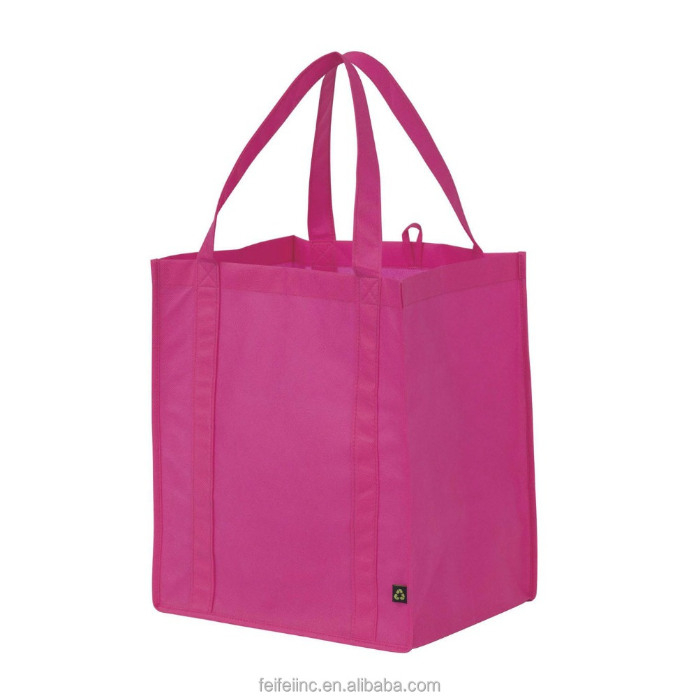 Custom printing cheap pink pp non woven shopping BAG