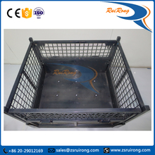 galvanized industrial stackable movable wire mesh roll container