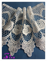 multicolor & guipure thin style cotton&polyester water soluble lace trim for fashion lady dress