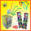Glass Set With Popping Glowing Fluorescent Candy Toy