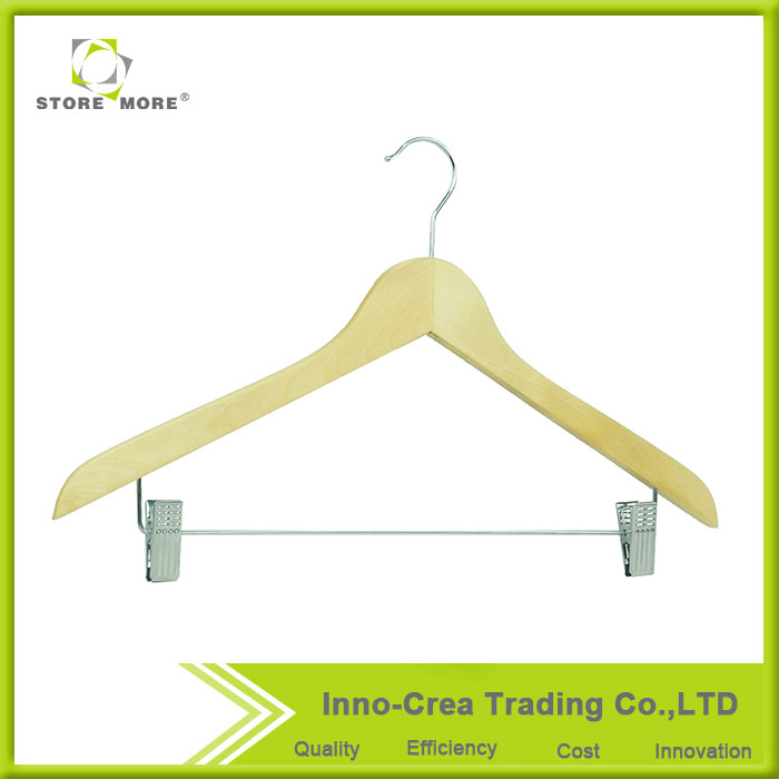 Wholesale Factory Pice OEM Mini Wood Pants Hangers Dresses Hangers