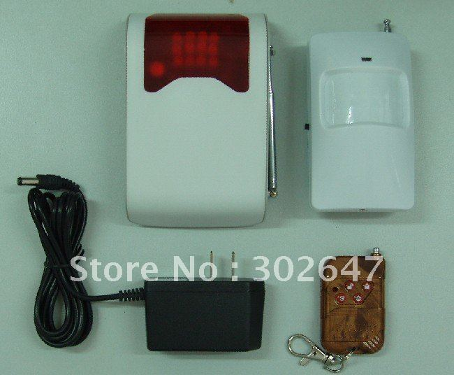 Home alarm system 12V 4channels 433mhz wireless sound and light alarm