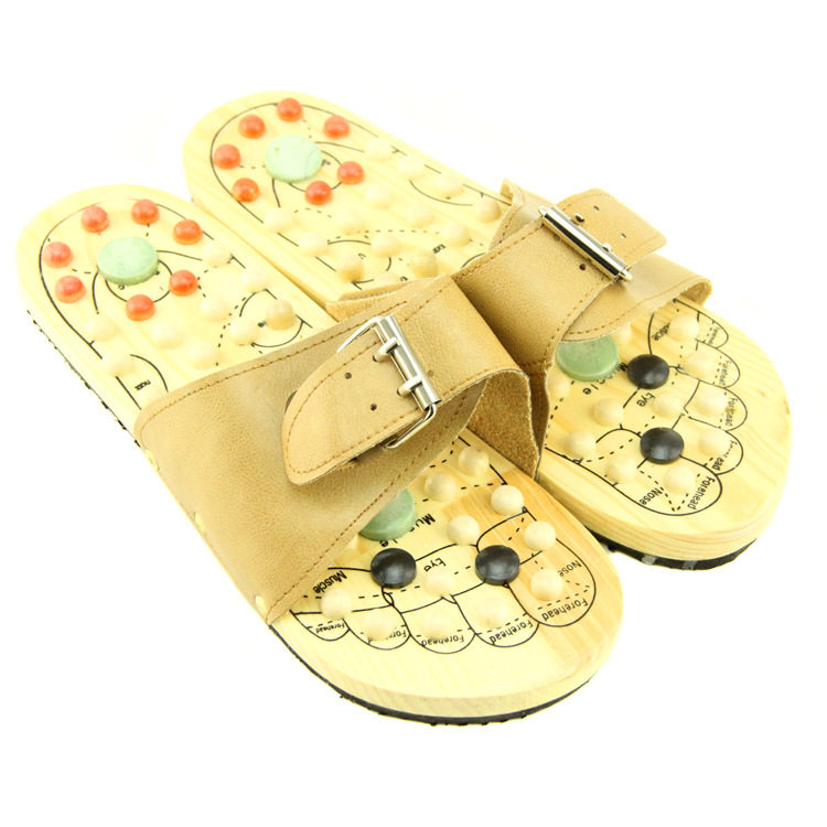 FQ brand wholesale high quality factory sale wood japan foot acupoint massager slipper