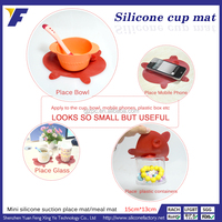 Wholesale suction non slip China knit cup mat