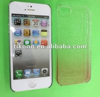 Water droplets clear transparent plastic case for iphone5