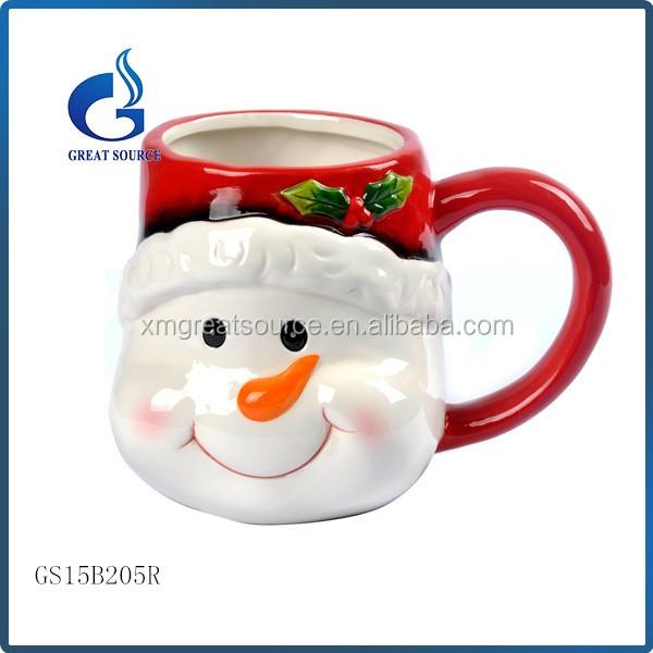 Cheap Bulk Ceramic Snowman Coffee Mugs For Christmas
