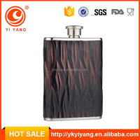 6oz insulated leather hip flask/mini wine bottle