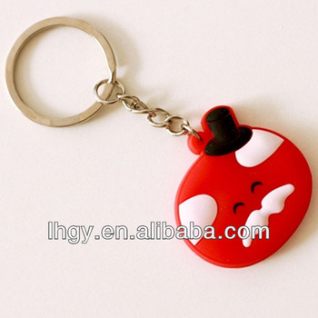 2014 latest design Lovely pvc keychain with eco-friendly material(LH-2113)