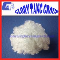 hollow siliconized conjugate polyester fiber, 7d*32mm, polyester staple fiber, virgin and 100% recycled grade