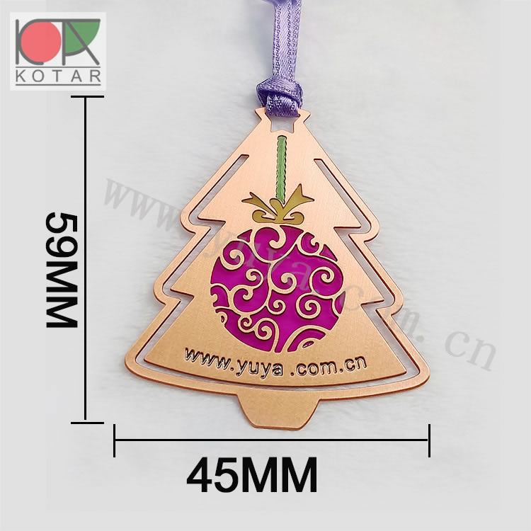 Christmas tree X's mas tree  photo etched bookmark metal bookmark transparent plate