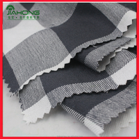2016 fashion black white check soft feeling rayon twill woven fabric