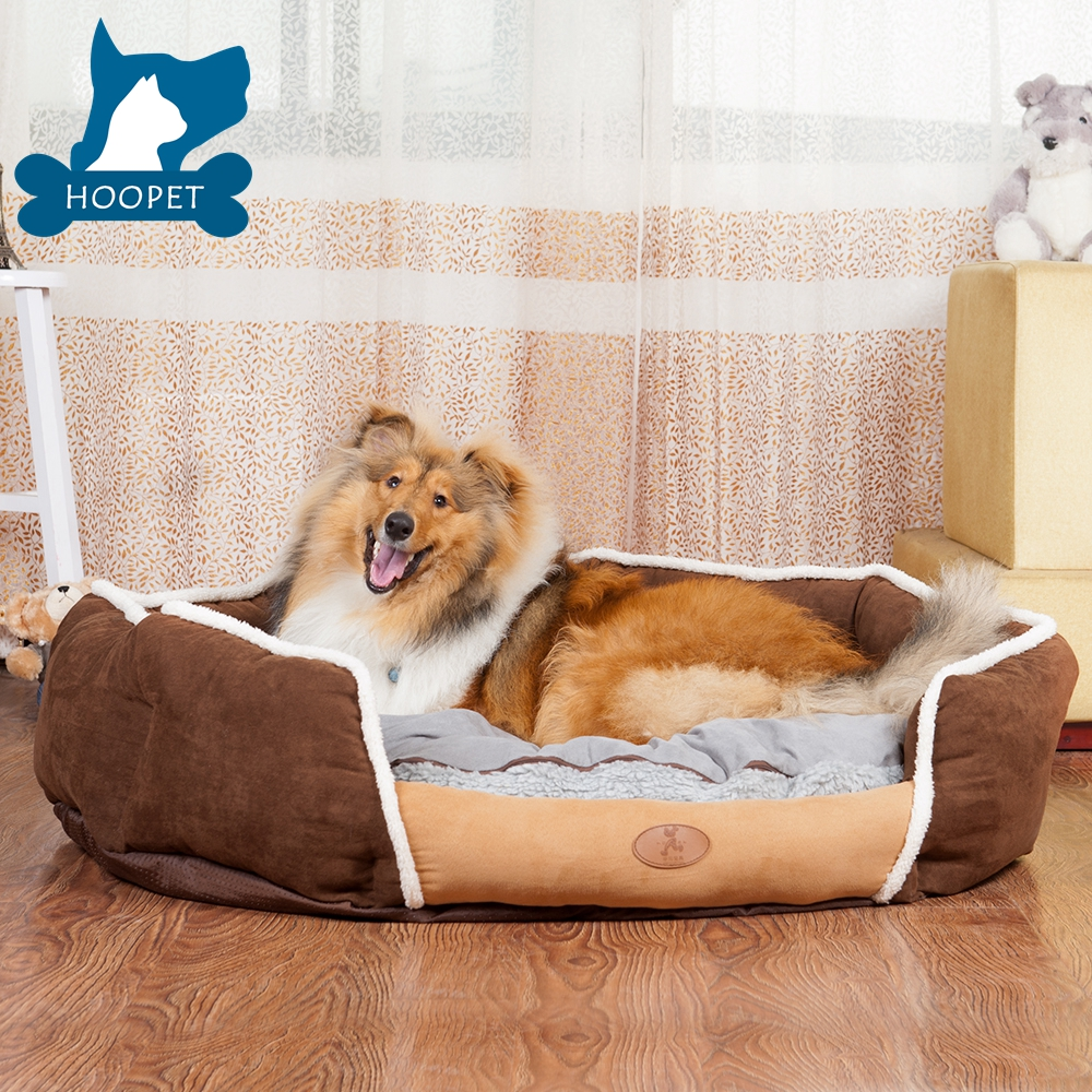 Discount Home Used Rectangle Blue Brown Cat Beds And Dog Beds Supplier