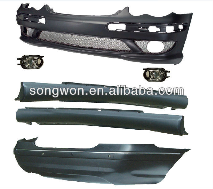 auto spare part mercedes w203 amg body kit
