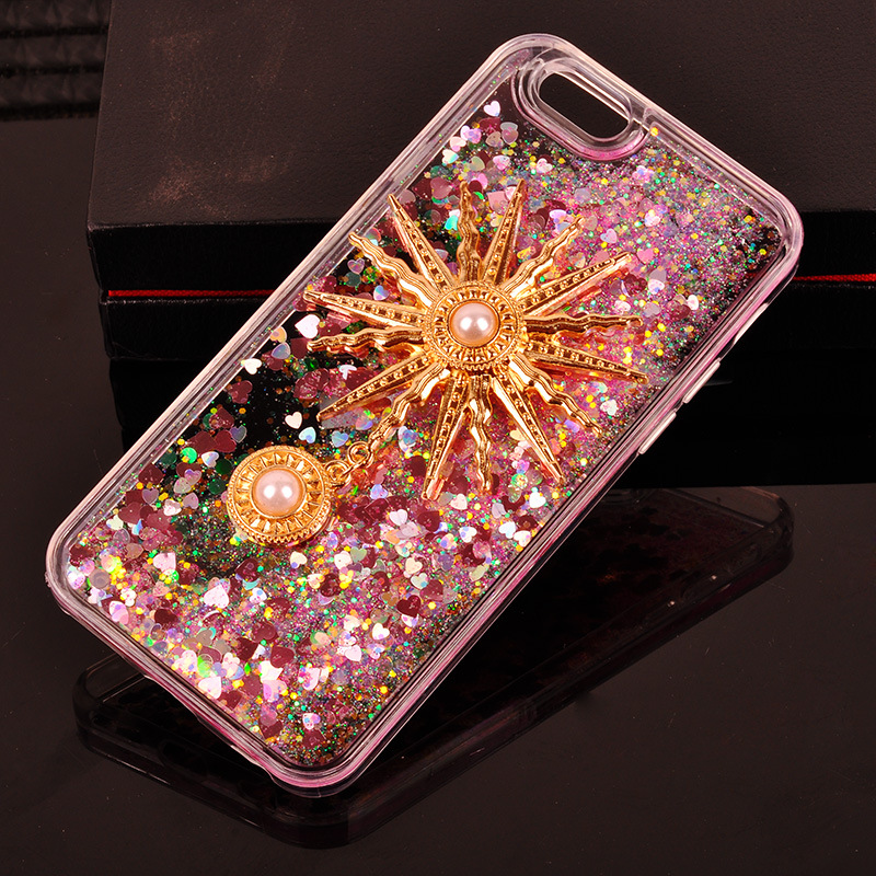 Custom bonster Liquid Glitter Case for iPhone for Samsung Mobile Phone Cover