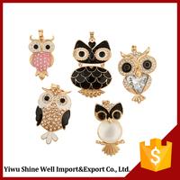 New coming unique design captivating cute owl shape necklace pendant