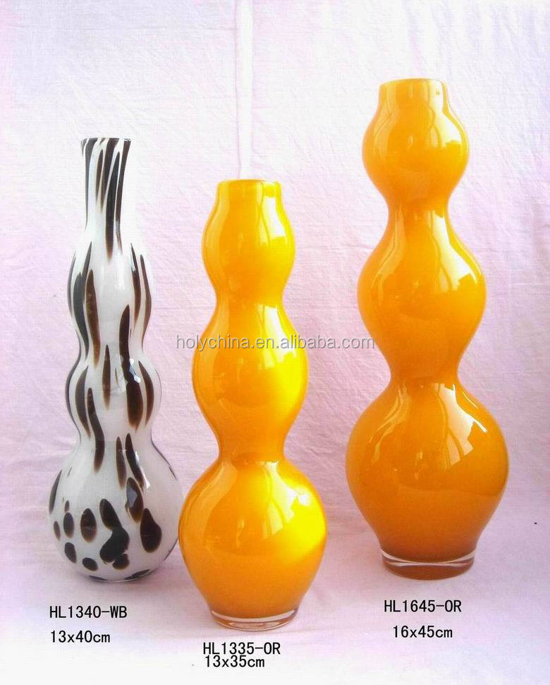 hot sale high quality custom made gold colored glass vases wholesale