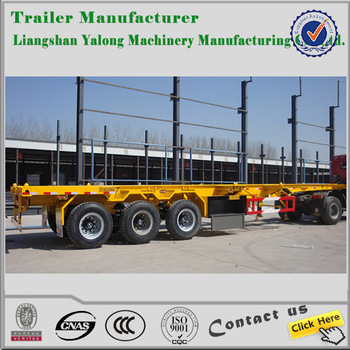 yalong trailer 3 axle 20ft Container semi Trailer