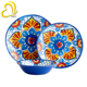 French hot custom plastic melamine round dinner tableware