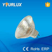 gu5.3 12v 24v 220v 35w 50w halogen MR16 light lamp with clear glass cover
