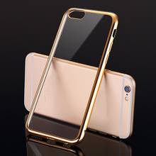 2017 Hot selling clear mobile phone back cover for apple iPhone 6S clear case