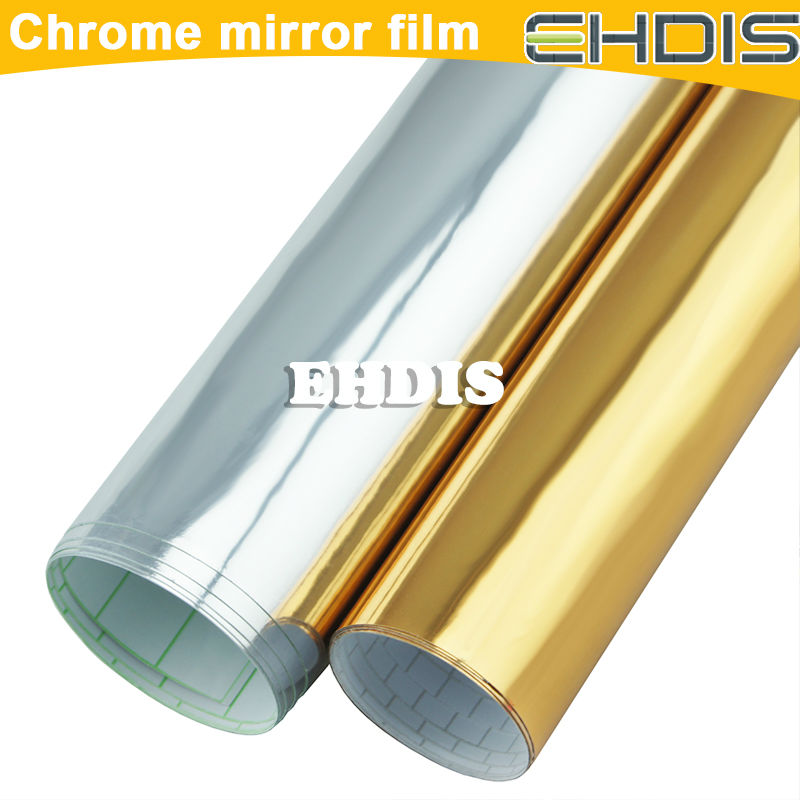 new product 2013 car accessory best sell hot auto part decorate film blue chrome mirror vinyl film for car body color change