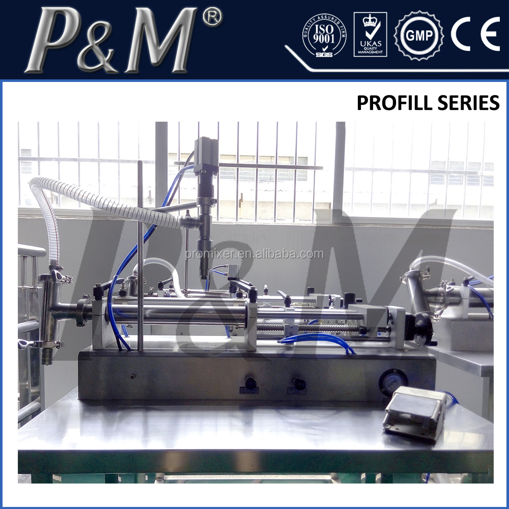 P&M Horizontal Self-suction olive oil Lotion Filling Piston Filler Machine