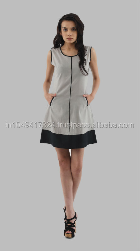Ladies fashion cotton summer casual dress