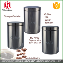 1.4L solid color round s/s stainless steel herb candy biscuit tea kitchen luxury pinic food storage canisters sets jar canada