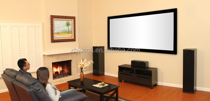 High definition picture frame projection screen
