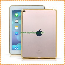Hot selling ultra thin clear electroplated tpu back cover case for ipad pro 9.7