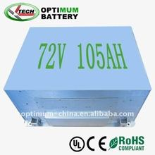 Electric Vehicle Lithium Battery 72V 105AH electric car