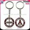 2016 high quality custom design souvenir metal spinning keychain