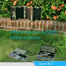 Factory hot selling 15W waterproof portable solar panel charger, dual USB solar panel charger