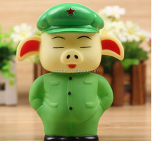 Bendable character pvc pig coin bank post