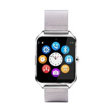 Bluetooth Smart Watch Phone Z60 Stainless Steel Support SIM TF Card Anti-Lost Fitness Tracker Smartwatch for IOS Android