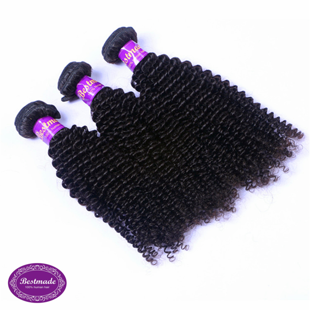 Raw Virgin Malaysian Kinky Curly Wave Human Hair Extensions and Weaves