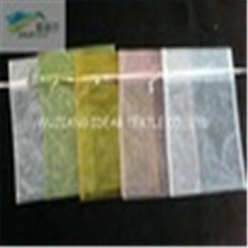 light weight Bright Polyester Organza For Gauze Packing Bag