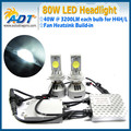 H7 H8 H9 H10 H11 9005 9006 D1S D2S 6400 lumen 80w Auto H4 LED headlight kit