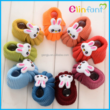 new fashional wool baby shoes cute rabbit infant socks fit 0-1year