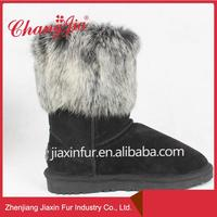 Professional Manufacture Leather Upper Rubber Boots