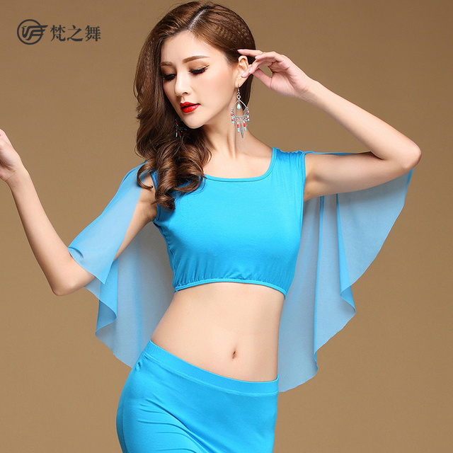 S 3105 Modal And Net Cloth Tippet Style Sexy Arab Belly Dance Costume Top