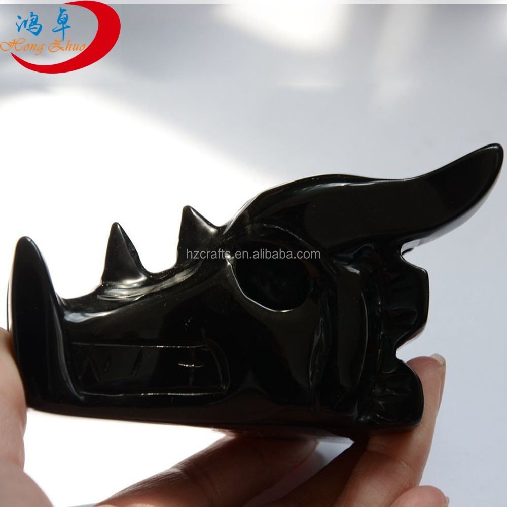 hot sale high quality jade dragon skull carvings